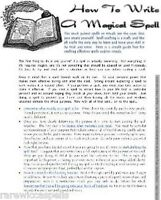 How to Write a Magic Spell or Ritual Wicca Book of Shadows Pagan Occult Spell