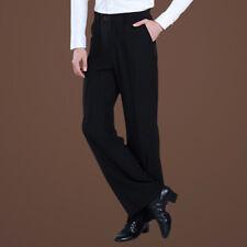 Men Dance Pants Formal Latin Trousers Rumba Ballroom Performance Dancewear Black
