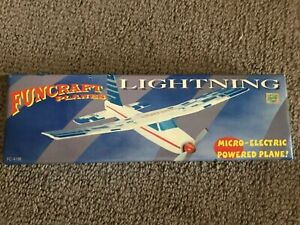 """Funcraft Planes Lightning Micro-Electric 14"""" Wingspan Easy 2 Minute Assembly"""