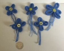 Knitted Forget Me Not Brooch