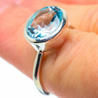 Blue Topaz 925 Sterling Silver Ring Size 5.75 Ana Co Jewelry R28911F