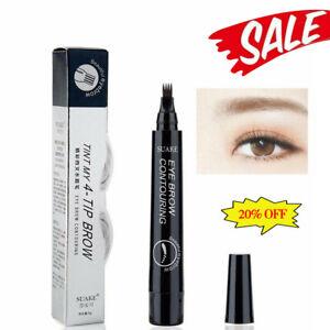 4-Tip Fork Microblading Eyebrow Pencil Tattoo Pen Waterproof Long-Lasting