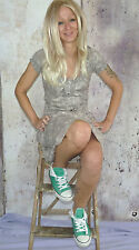 Knielange Esprit Damenkleider mit Rundhals-Ausschnitt aus Baumwolle