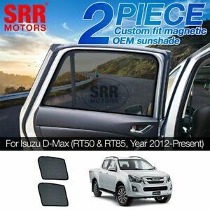 Custom Magnetic Sun Shade Rear Door Car Window For Isuzu D-Max DMax RT50 RT85 S