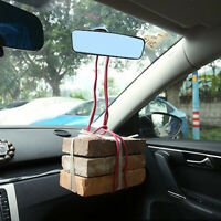 Car Auto Wide Flat Interior Rear View Mirror Suction Stick Rearview Accessories-