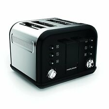 Morphy Richards Accents 4 Slice Wide Slot Toaster In Black Variable Width 242031