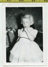 Vintage 1950's photo / Over Medicated Girl Eating a Mickey Mouse Wristwatch