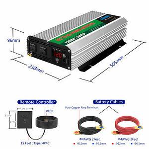 Modified Sine Wave Power Inverter 2500W/5000W 12V-240V +Remote Control Used