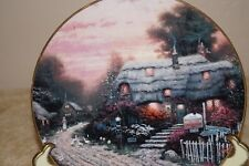 "Thomas Kinkade collectible plate ""Old Porterfield Tea Room"" #19A"