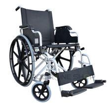 DELO Silla de ruedas manual plegable y autopropulsable para anciano minusválido