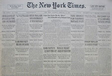 2-1933 February 11 HITLER PROCLAIMS WAR ON DEMOCRACY AT HUGE RALLY. PLANE FINDS