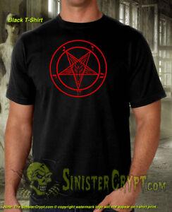 Goat of Mendes Pentagram t-shirt Devil Satan Satanism Pagans 666 Metal S-6XL