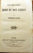 PARIS/ALPHONSE KARR/PROMENADES HORS DE MON JARDIN/1857/BOULEVARDIER