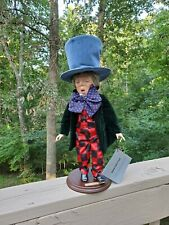 "Rare Alice In Wonderland ""Mad Hatter"" Doll Faith Wick By Silvestri 1985 Nos"