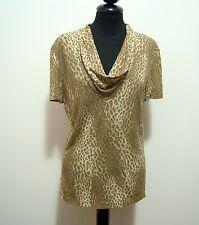LUISA SPAGNOLI Suéter Camiseta De Mujer Viscosa Rayón mujer camiseta Sz. S - 42