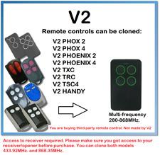 V2 Rolling Code multi-frecuencia duplicador de control remoto de 4 canales 280-868MHz.