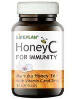 Lifeplan Honey C with Vitamin C and Zinc Capsules, Pack of 30