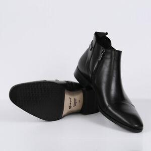 Herren Business Boots Stiefeletten Schwarz Neu Leder  Winter 41 42 43 44 Schuhe