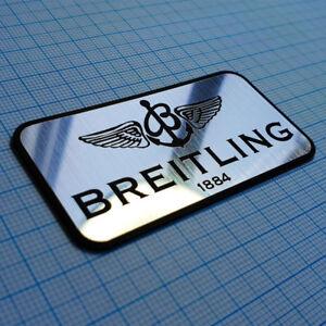 BREITLING -  Logo Sticker Emblem - Metallic Aluminum 70 mm / 35 mm