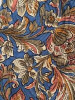 ERMENEGILDO ZEGNA Mens 100% Silk Neck Tie Steel Blue Floral Made in ITALY
