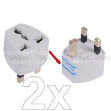 2x High Quality US EU AU to UK AC Power Plug Adapter Travel Converter f 220-240V