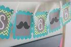 "Mustache Bash Baby Shower or Birthday Chevron ""Little Man"" or ""Its a Boy"" Banner"