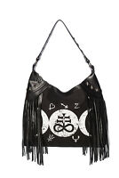 Women's Black Gothic Rockabilly Punk Occult Tempest Fringe Bag BANNED Apparel