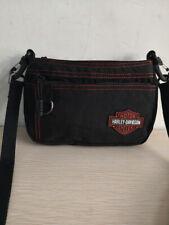 Harley Davidson®  Women's Orange Stitching Rally Black Nylon Hip Crossbody Bag