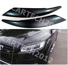 Audi Q7 Headlight Eyebrows, Eyelids  ABS PLASTIC, Spoiler, tuning