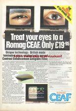 "Romag Ceaf Enhancement Antiglare ""Vintage Hardware"" 1984 Magazine Advert #5206"