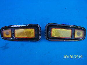 FIAT 124  850 1000 ABARTH  SPIDER ALTISSIMO 2X FRONT SIDE MARKER LIGHTS