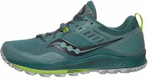 Saucony Men's Peregrine 10 Trail Running Shoe, Steel, 9 D(M) US