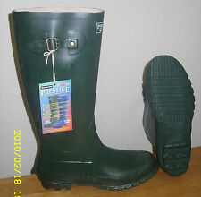 Rubber wellies with side buckle Kingstone made in UK Gents size 8