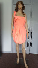 L'ART BY RIVER ISLAND party NEO pink dress size 14