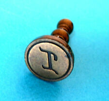 "ANTIQUE SOLID  BRASS CHESS PAWN DESIGN WAX LETTER SEAL,,INITIAL ""I"""