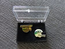 Vintage Seattle Seahawks Set of 2 Collectors Pins with Case Free Shipping !!! #1