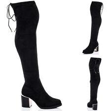 Mid Heel (1.5-3 in.) Unbranded Over Knee Boots for Women