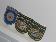 Lot of Vtg. German Schutzpolizei Police Embroidered Patches