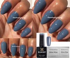 BLUESKY 63927 AUTUMN WINTER  BLUE GREY NAIL GEL POLISH LED UV SOAK OFF + WIPES