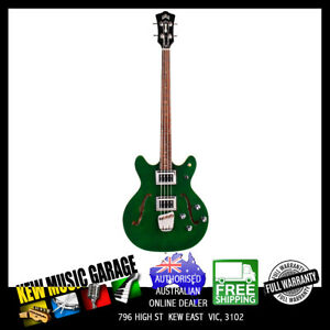 GUILD NEWARK ST COLLECTION STARFIRE II ELEC BASS EMERALD GREEN WITH DELUXE CASE