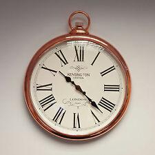 GRAND CUIVRE Horloge Murale Vintage Poche Fob Watch Style
