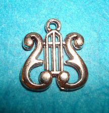Pendant Music Charm Lyre Charm Harp Charm Angel Music Charm Musical Charm