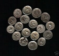 CAMBODIA 2 PE KM27 1650-1850 AD COCK BILLION SILVER CURRENCY MONEY ONE COIN