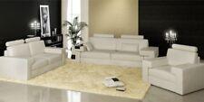 Sofagarnitur Sofa Couch Polster Sitz Leder Garnitur Wohnlandschaft Licht Nassau