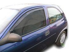 VAUXHALL CORSA B mk1 3 PORTE 1993-2001 serie di deflettori vento anteriore 2pc HEKO