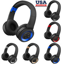 Wireless Bluetooth Handsfree Headband Headset Stereo Headphone For Laptop Phone