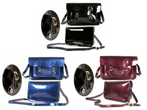 Patent Leather Adjustable Strap Satchel