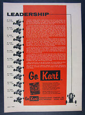 1960 Go-Kart 800 Series Karts 11 Cart Models illustrated photos vintage print Ad