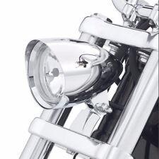 7 Inch Chrome Alloy Bullet Headlight For Harley Chopper Bobber Sportster Dyna