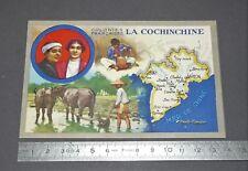 CARTE CHROMO LION NOIR 1920 COLONIES FRANCE INDOCHINE COCHINCHINE SAÏGON CHOLON